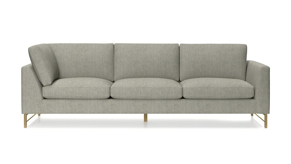 Tyson Right Arm Corner Sofa with Brass Base - Image 2 of 5