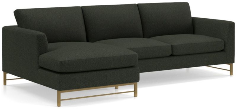 Tyson 2 Piece Left Arm Chaise Sectional With Brass Base by Crate&Barrel