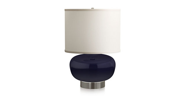 Spectrum Table Lamp with Oblong Ceramic and Metal Base shown