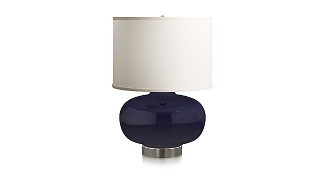 Spectrum Large Table Lamp with Oblong Ceramic and Metal Base shown