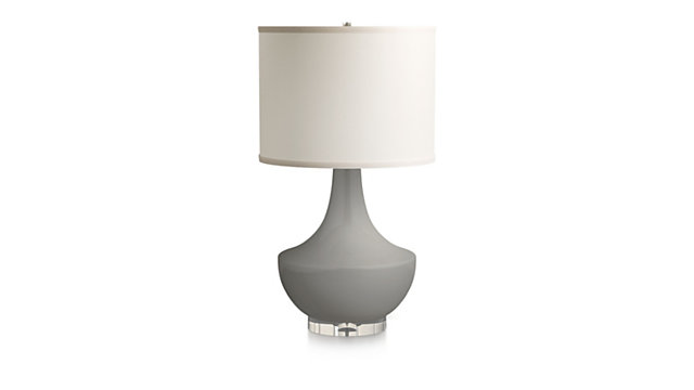 Spectrum Table Lamp with Flared Ceramic and Acrylic Base shown