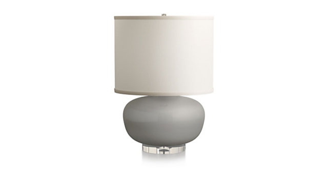Spectrum Table Lamp with Oblong Ceramic and Acrylic Base shown