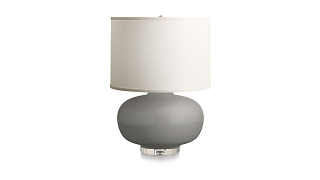 Spectrum Large Table Lamp with Oblong Ceramic and Acrylic Base shown