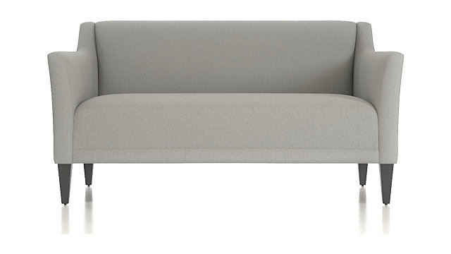 Margot II Tight Back Loveseat shown in Portrait, Alloy