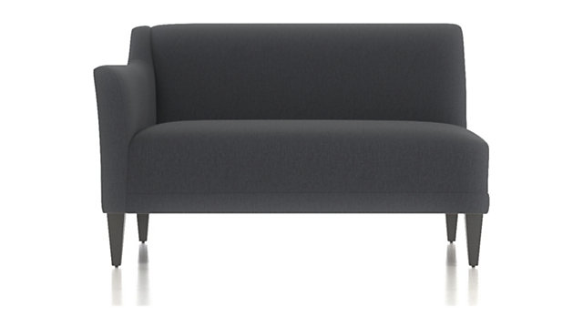 Margot II Left Arm Loveseat shown in Portrait, Night