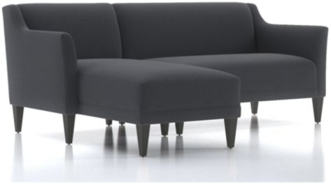 Margot II 2-Piece Left Arm Chaise Sectional(Left Arm Chaise, Right Arm Loveseat) shown in Portrait, Night