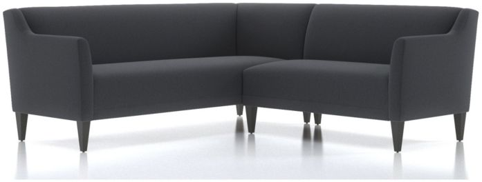 Margot II 2-Piece Left Arm Corner Sofa Sectional(Left Arm Corner Sofa, Right Arm Loveseat) shown in Portrait, Night