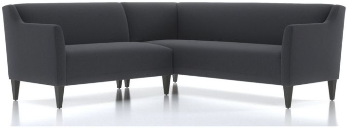 Margot II 2-Piece Right Arm Corner Sofa Sectional(Left Arm Loveseat, Right Arm Corner Sofa) shown in Portrait, Night