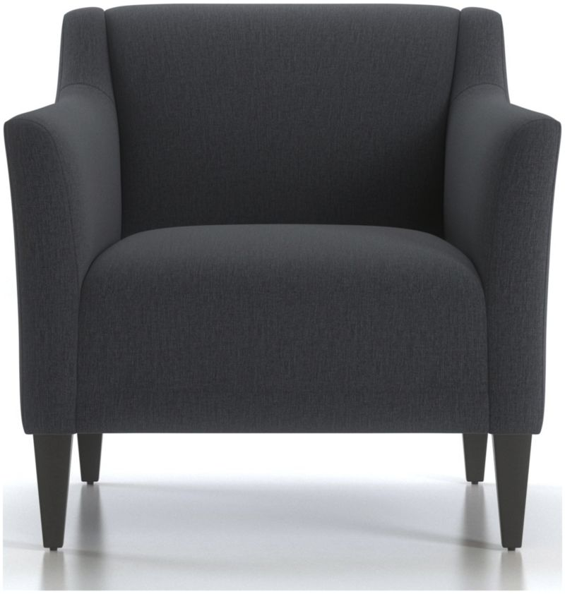 TAP TO ZOOM Margot II Tight Back Chair Shown In Portrait, Night