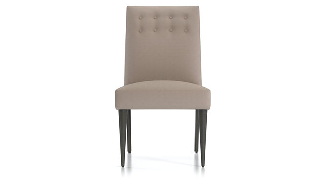 Gia Button Tufted Dining Chair shown in Brennan, Grey