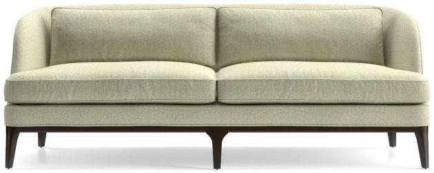 Seychelles Wood Trim Sofa shown in Emma, Pearl