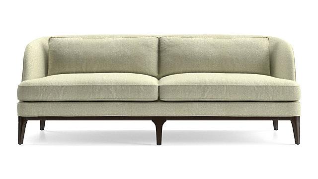 Tap To Zoom Seyces Wood Trim Sofa Shown In Emma Pearl