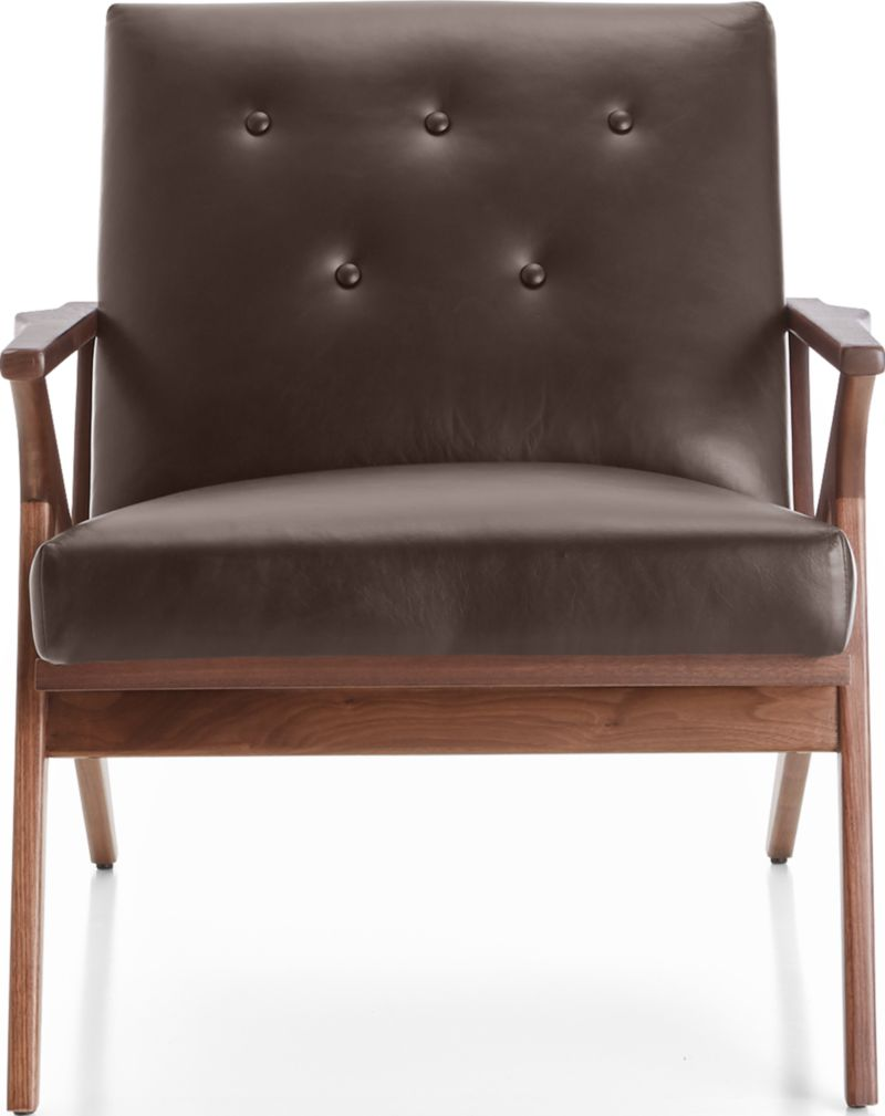 Cavett Leather Tufted Chair