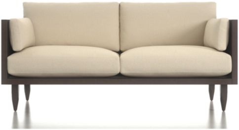 Sherwood Exposed Wood Frame Loveseat shown in Curious, Pearl