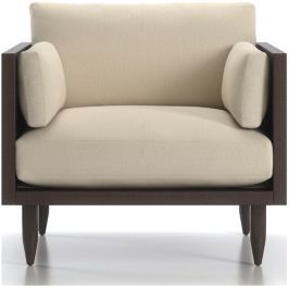 Sherwood Exposed Wood Frame Chair shown in Curious, Pearl
