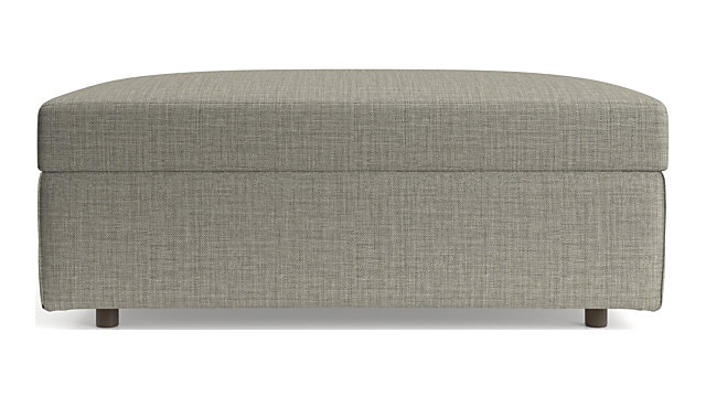 Barrett Storage Ottoman shown in Galaxy, Ash