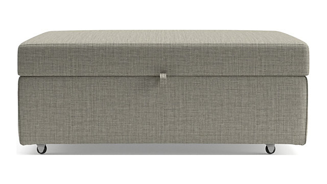 Barrett Storage Ottoman with Tray and Casters shown in Galaxy, Ash