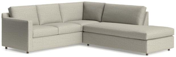 Barrett 2-Piece Right Bumper Sectional(Left Arm Corner Sofa, Right Bumper) shown in Galaxy, Ash