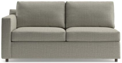Barrett Left Arm Apartment Sofa shown in Galaxy, Ash