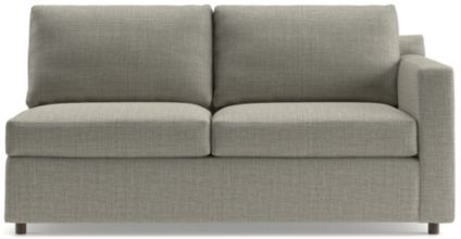Barrett Right Arm Apartment Sofa shown in Galaxy, Ash