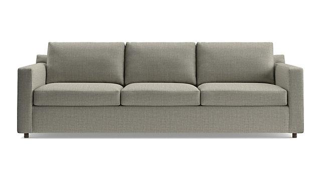 "Barrett 103"" 3-Seat Grande Track Arm Sofa shown in Galaxy, Ash"