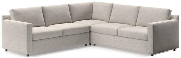 Barrett 3-Piece Sectional(Left Arm Apartment Sofa, Corner, Right Arm Apartment Sofa) shown in Galaxy, Ash