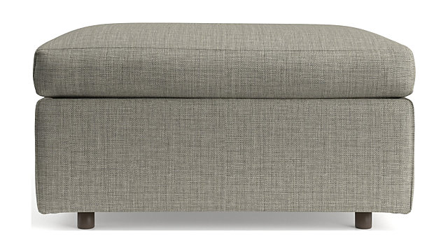 Barrett Square Cocktail Ottoman shown in Galaxy, Ash