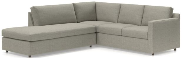 Barrett 2-Piece Left Bumper Sectional(Left Bumper, Right Arm Corner Sofa) shown in Galaxy, Ash