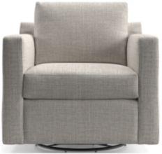 Barrett Track Arm Swivel Chair shown in Galaxy, Ash