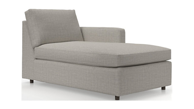 Barrett Right Arm Chaise shown in Galaxy, Ash