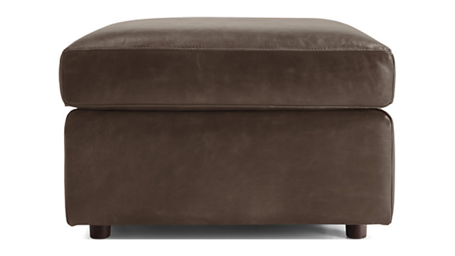 Barrett Leather Ottoman shown in Libby, Storm