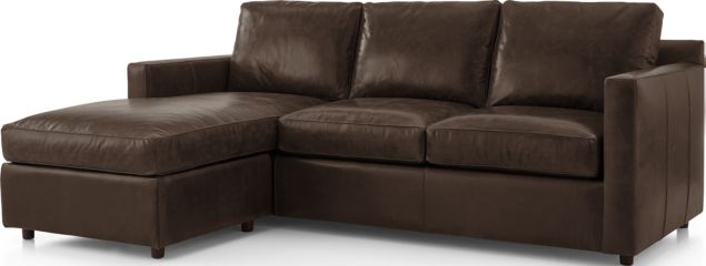 Barrett Leather Left Arm Queen Sleeper Lounger with Air Mattress shown in Libby, Storm