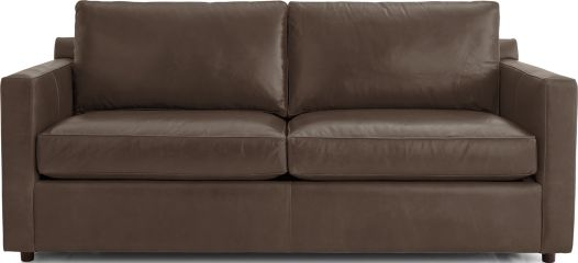 Barrett Leather Track Arm Sofa shown in Libby, Storm