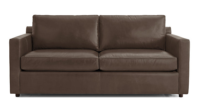 Barrett Leather Track Arm Sofa Reviews Crate And Barrel