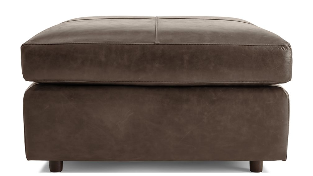 Barrett Leather Square Cocktail Ottoman Reviews Crate