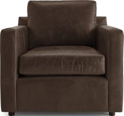 Barrett Leather Track Arm Chair shown in Libby, Storm