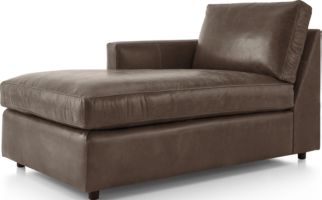 Barrett Leather Left Arm Chaise shown in Libby, Storm
