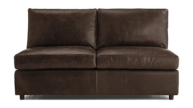 Barrett Leather Armless Full Sleeper + Reviews | Crate and Barrel