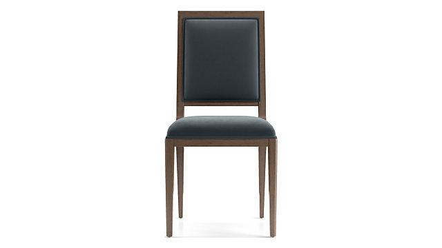Sonata Velvet Handpainted Dining Chair shown in Modern Velvet, Slate