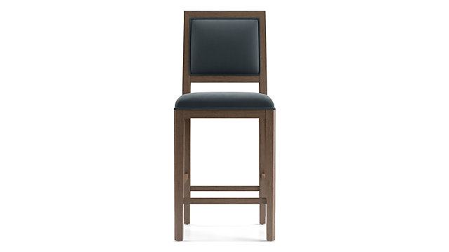 Sonata Velvet Handpainted Counter Stool shown in Modern Velvet, Slate