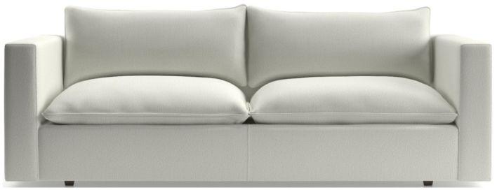Lotus Low Sofa shown in Nordic, Frost