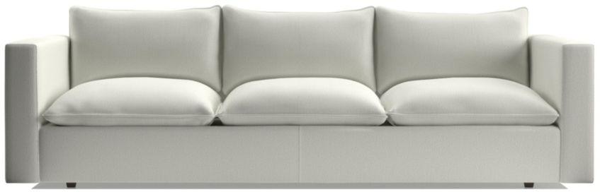 "Lotus 109"" Low Grande Sofa shown in Nordic, Frost"