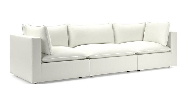 Lotus Modular 3-Piece Low Sofa Sectional + Reviews | Crate and Barrel