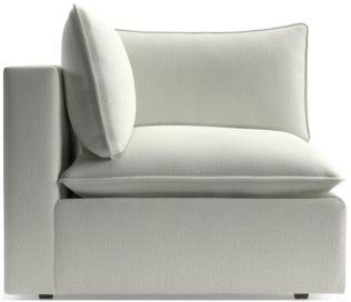 Lotus Modular Corner Low Chair shown in Nordic, Frost