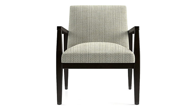 Van Dyke Chair shown in Groove, Quarry
