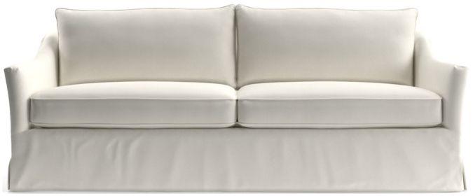 Keely Slipcovered Sofa shown in Newport, Salt