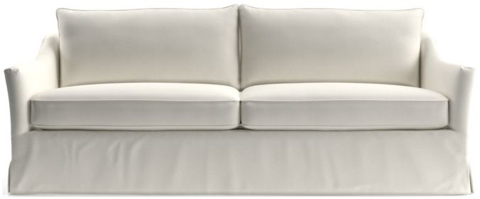 Keely Slipcovered Sofa shown in Newport, Salt