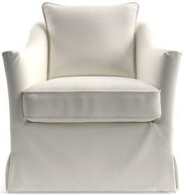 Keely Slipcovered Chair shown in Newport, Salt