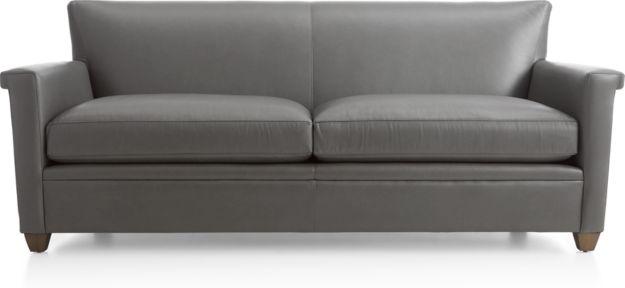Declan Leather Sofa shown in Lavista, Slate