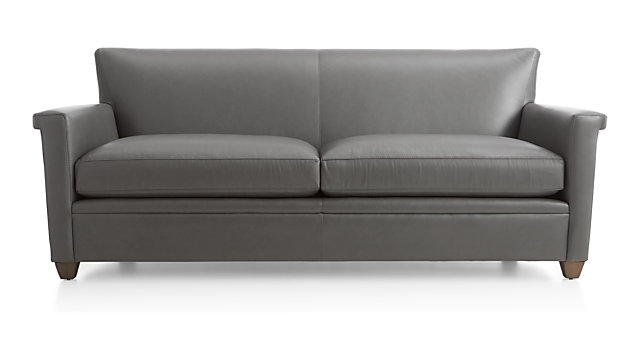Declan Leather Sofa shown in Lavista, Slate